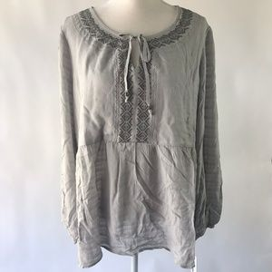 Sonoma Embroidered Peasant Top